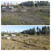Before & after - removing the pool and other infrastructure / Antes y después - sacando la piscina y otra infraestructura